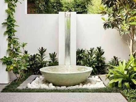 Resultado de imagen para fuentes modernas para jardin Fuentes