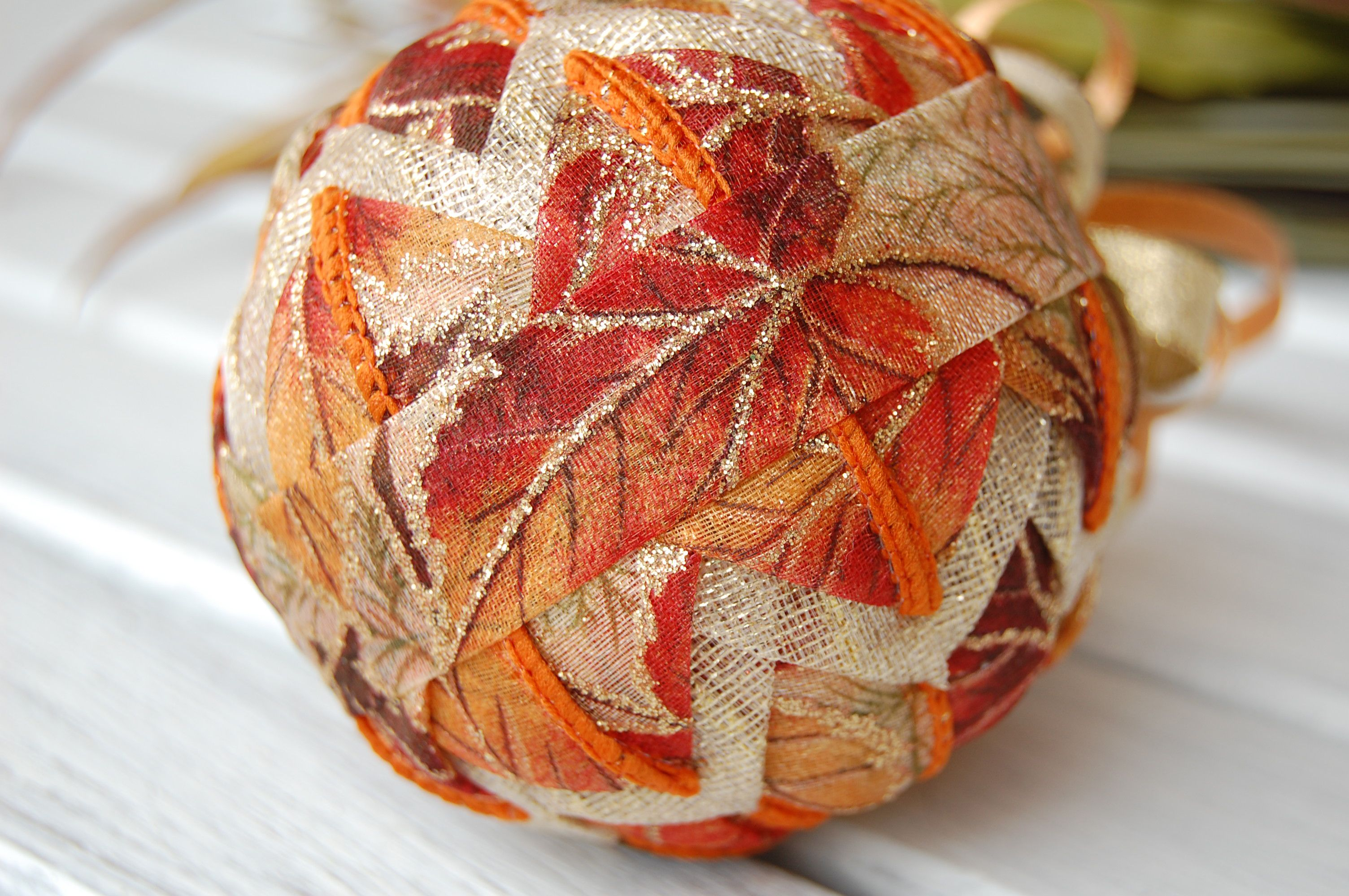 autumn quilted ornament DIY kit Halloween ornaments