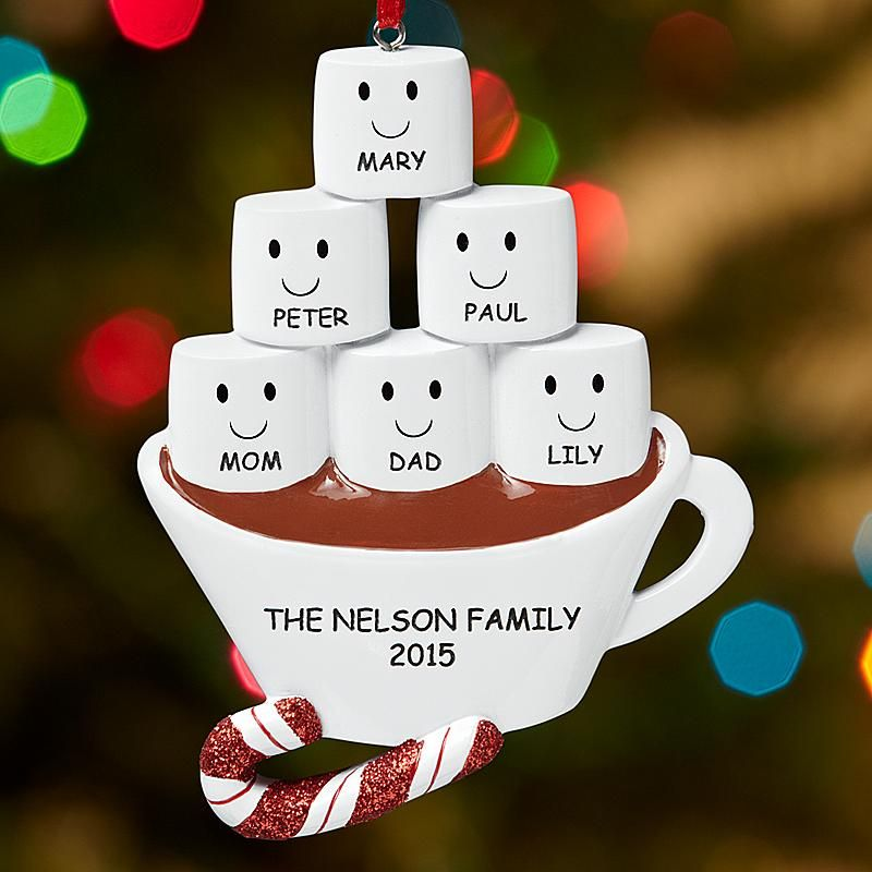 Marshmallow Dreams Family Ornament  Ornament Holidays and