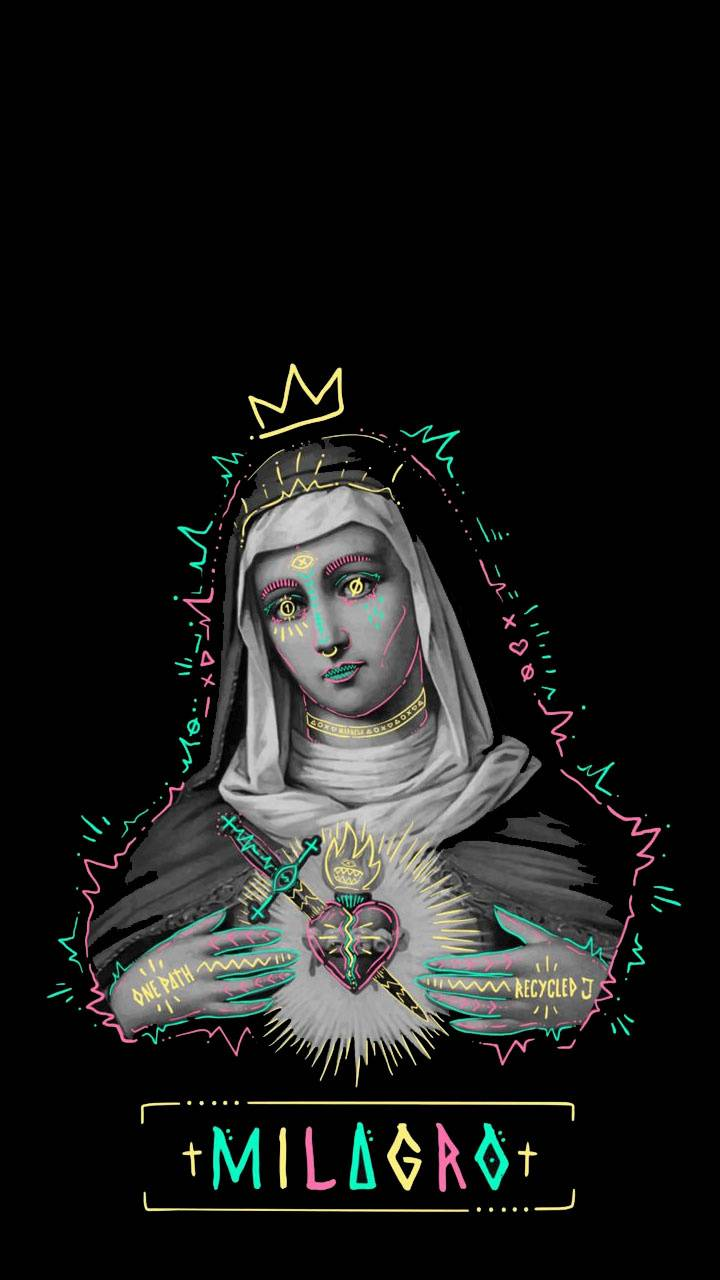 Trap De La Virgen Wallpaper By Samugp 0d Free On Zedge Graphic Tshirt Design Art Wallpaper Graphic Design Posters