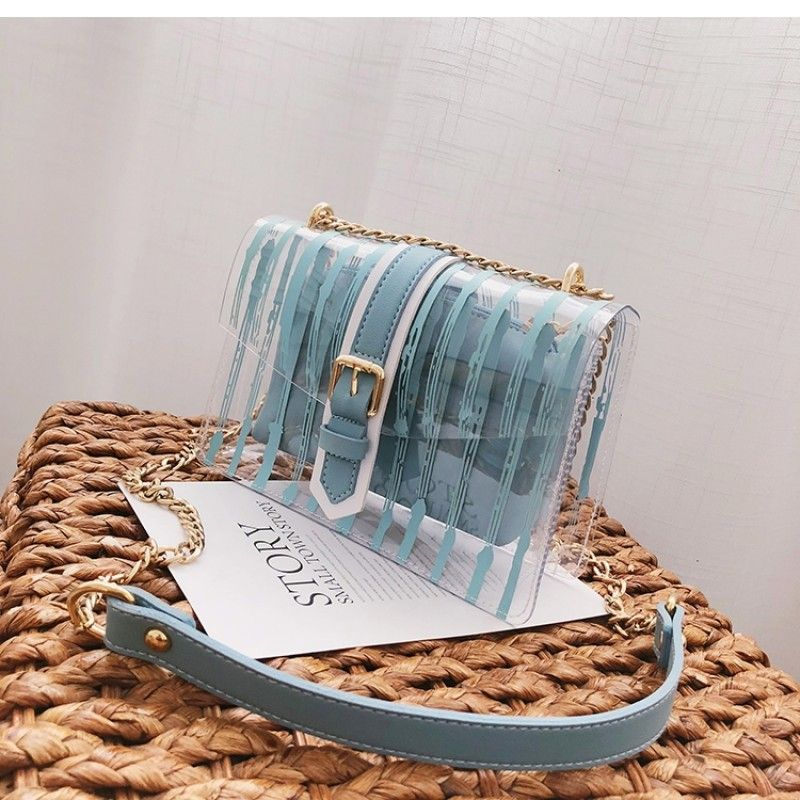 19e6030f38319a Blue Clear Bag Transparent Cross-body Fashion Bags #outfitoftheday  #lookoftheday #fashionblogger #