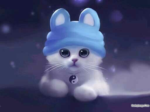Pin By Tabitha Hester On Kitty Cute Anime Cat Cute Cat Wallpaper Anime Kitten