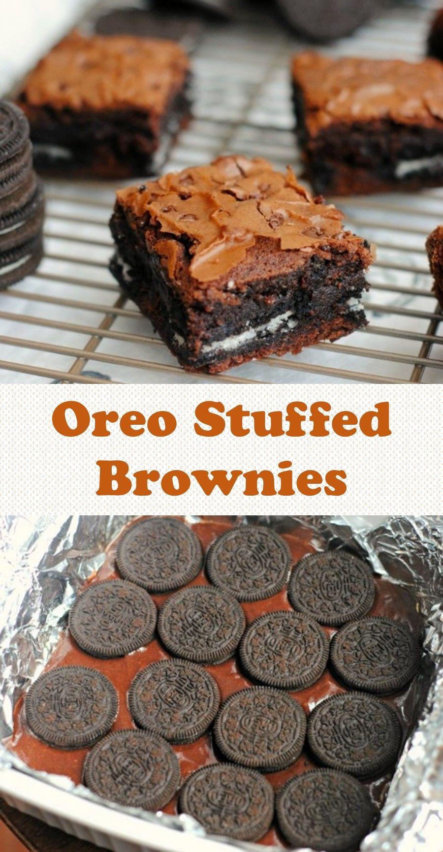 Oreo Stuffed Brownies Dairy Free Fudge Dessert Recipes Oreo