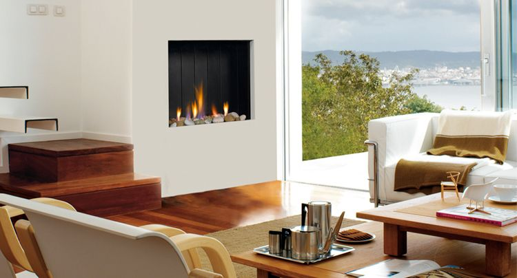Estufas hogares y chimeneas de hierro fundido para le a y for Hogares a gas modernos