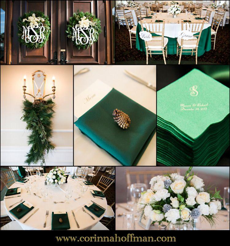 Corinnahoffman Green Wedding Details For A Winter Themed