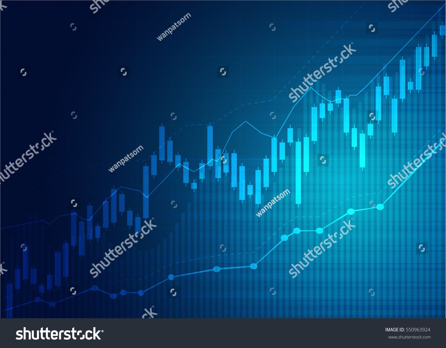 Candle Stick Graph Chart Of Stock Market Investment Trading Bullish Point Bearish Point Trend Of Graph Vector D Stock Market Stock Market Investing Graphing