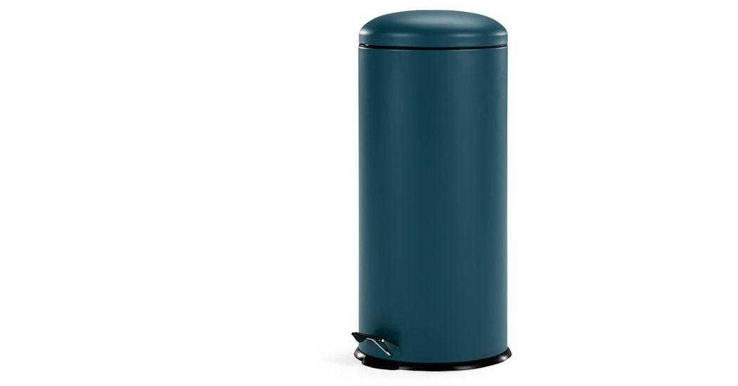 Joss 30l Domed Pedal Bin Blue Poubelle Poubelle A Pedale Bleu