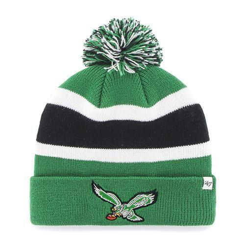 5732a7d33bc Philadelphia Eagles Vintage NFL Football  47 Brand Pom Knit Hat ...
