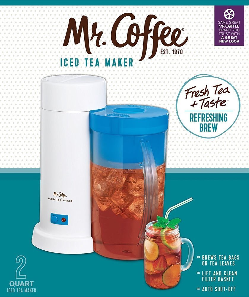 Mr. Coffee TM1 2 Quart Iced Tea Maker for Loose or Bagged