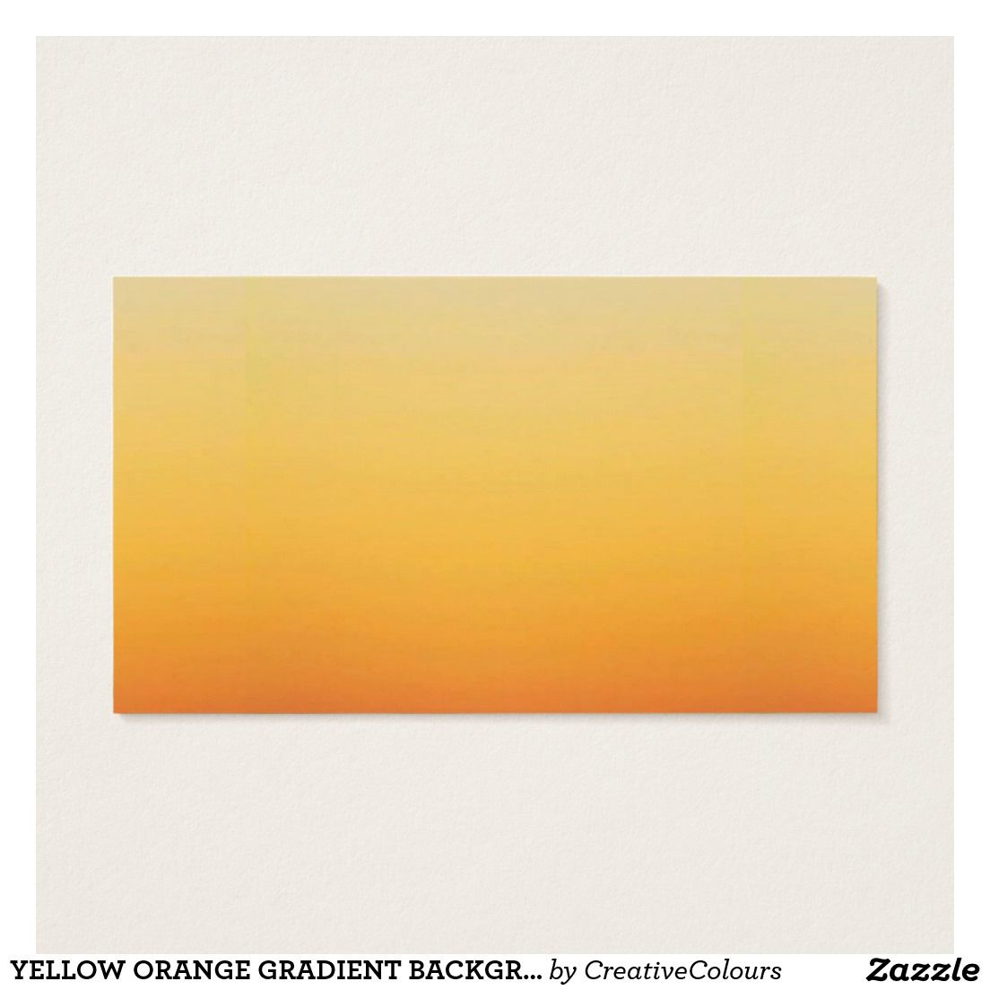 Yellow Orange Gradient Background Template Customi Zazzle Com