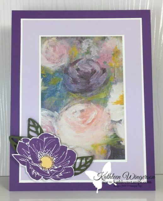 Monet inspired — Floral Essence Card - Kathleen's Stamping Place