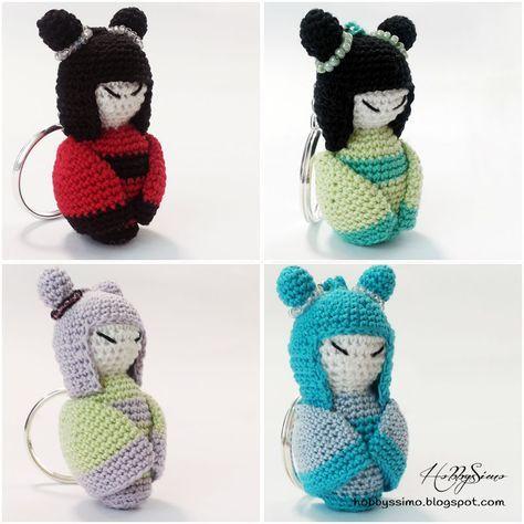 Amigurumi Kokeshi Dolls pattern by Sayjai ... - Ravelry | 474x474