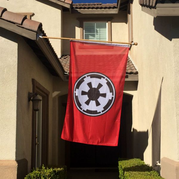Star Wars Galactic Empire Flagshut Up And Give Me The Details Measures 3 X 5 Made From Durable All Weather Pol Star Wars Decor Galactic Empire Star Wars Empire