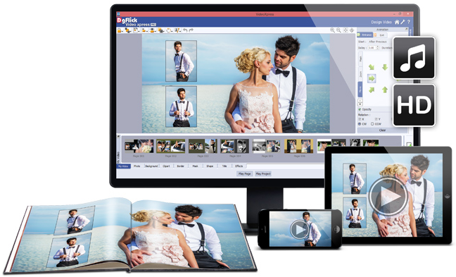 Add life to your photos with VideoXpress by DGflick