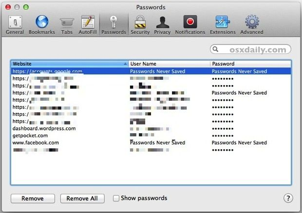 Want your browser to store passwords? Don't know how to view