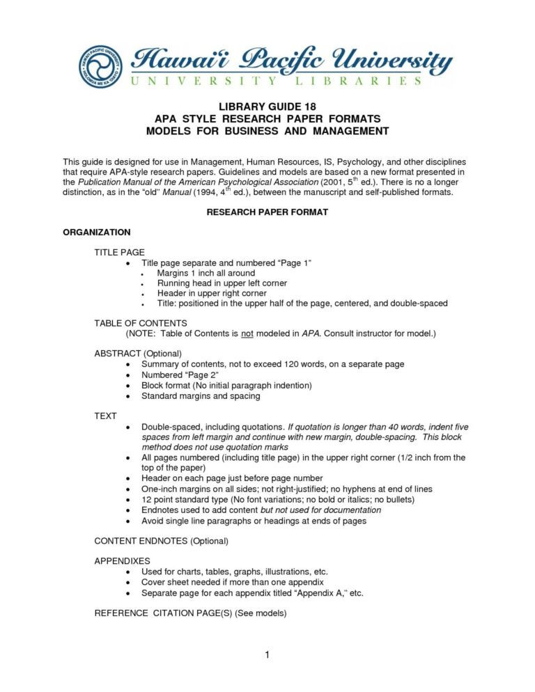 005 Research Paper Layout Statement Example Template Throughout