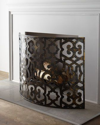 Curved #Fireplace Screen at #Horchow.