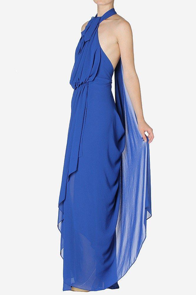 Royal Georgette Tear Drop Back Diaphanous Gown - Carla Zampatti ...