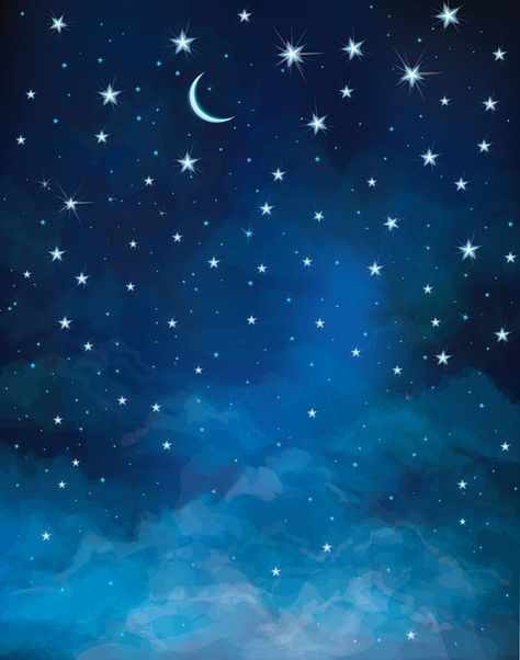 Night Sky Backdrop - moon and star, astronomy, universe ...