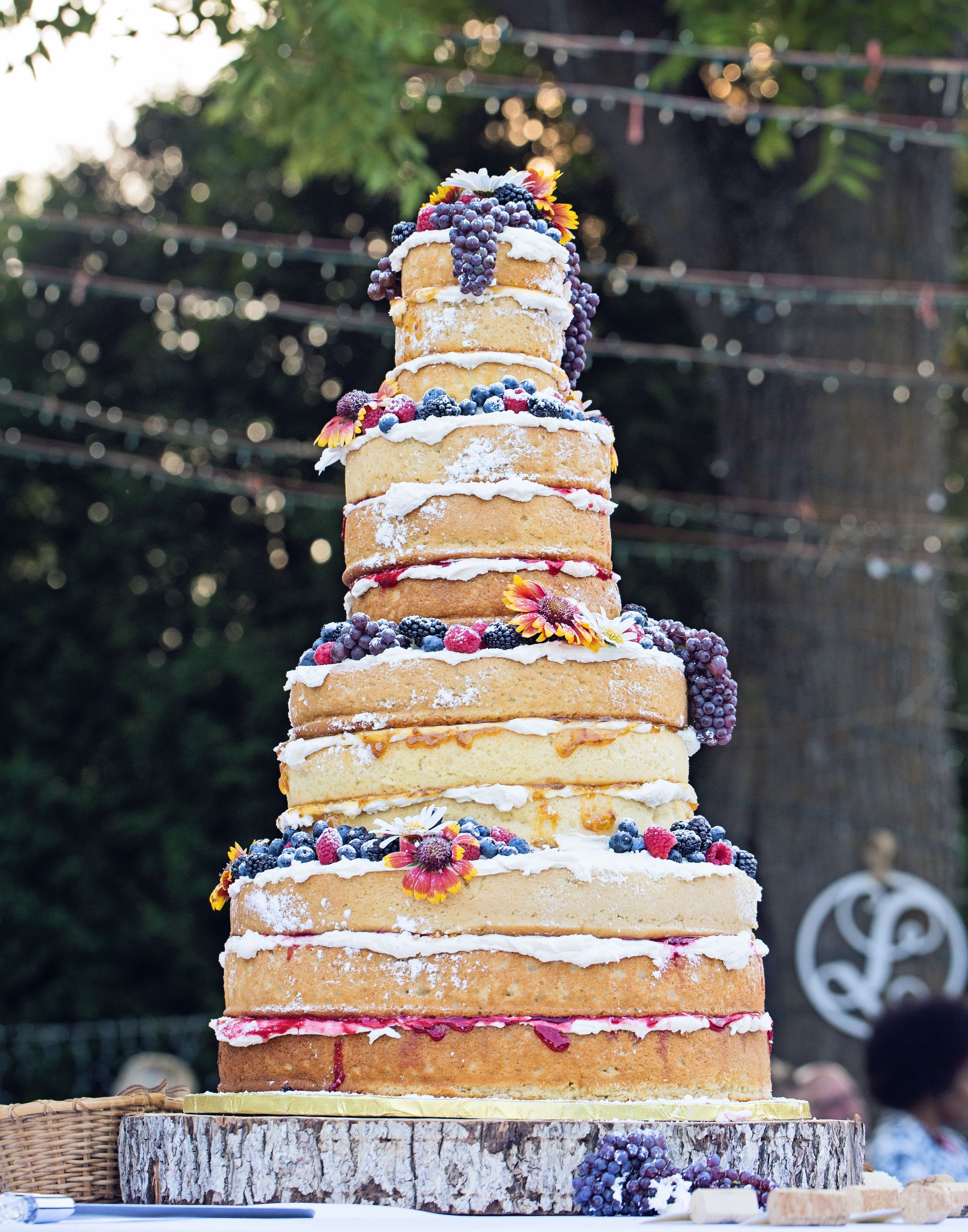 Tiered naked wedding cake with fresh fruit cakes pinterest tiered naked wedding cake with fresh fruit solutioingenieria Images