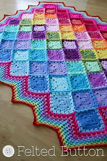 Free pattern: Happy Harlequin Blanket by Susan Carlson. Thank you, susan!