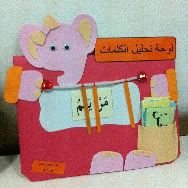 تحليل الكلمات للاطفال Arabic Alphabet For Kids Arabic Kids Muslim Kids Activities