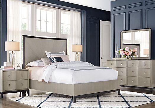 picture of Sofia Vergara Arbella Gray 5 Pc Queen Panel Bedroom from ...