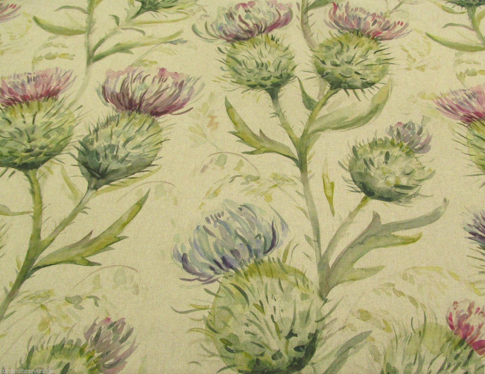 Voyage Thistle Glen Spring Linen Fabric