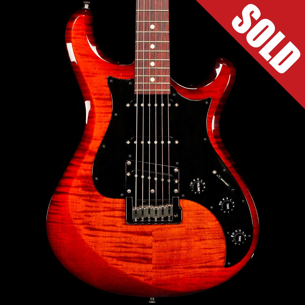 Knaggs Severn T3 Fire Sold Guitar Playing Guitar Red Electric Guitar