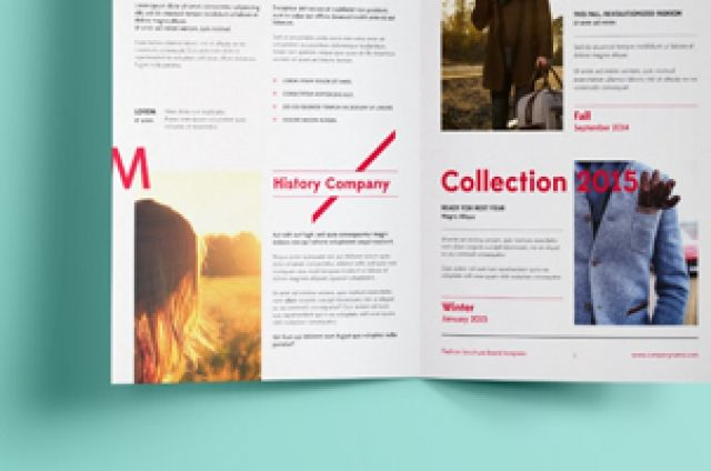 Completing our series of psd bifold mock-up with volume 6 It - half fold brochure template