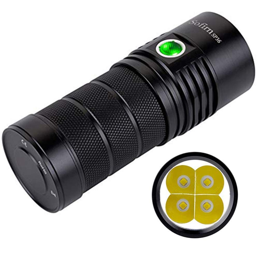 Sofirn Sp36 Powerful 6000 Lumen Flashlight Rechargeable 18650 Brightest Torch Cree 4 Xpl2 Led Outdoor Searchlight With Narsilm V1 2 Batt Flashlight Cree Torch