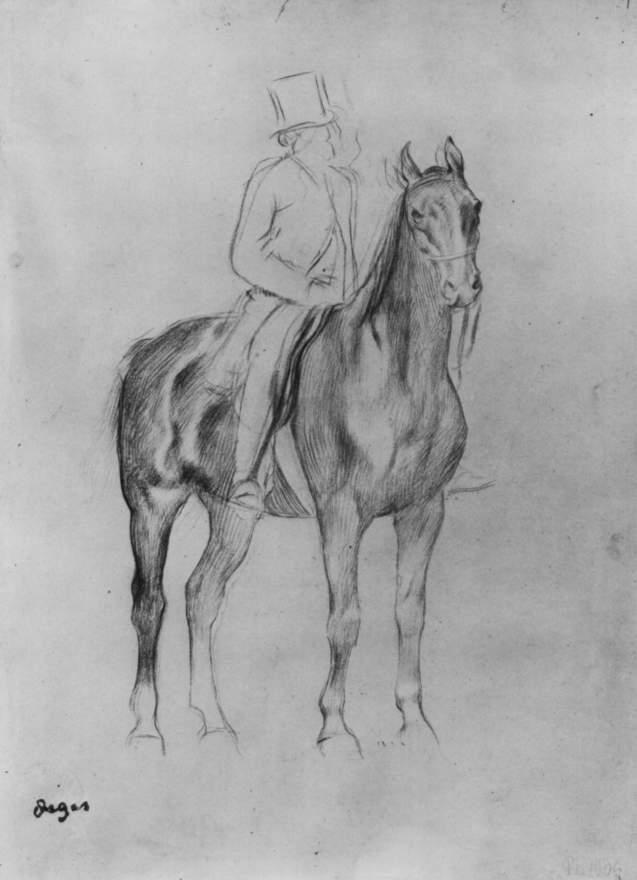 Картинки нарисованные люди на лошадях