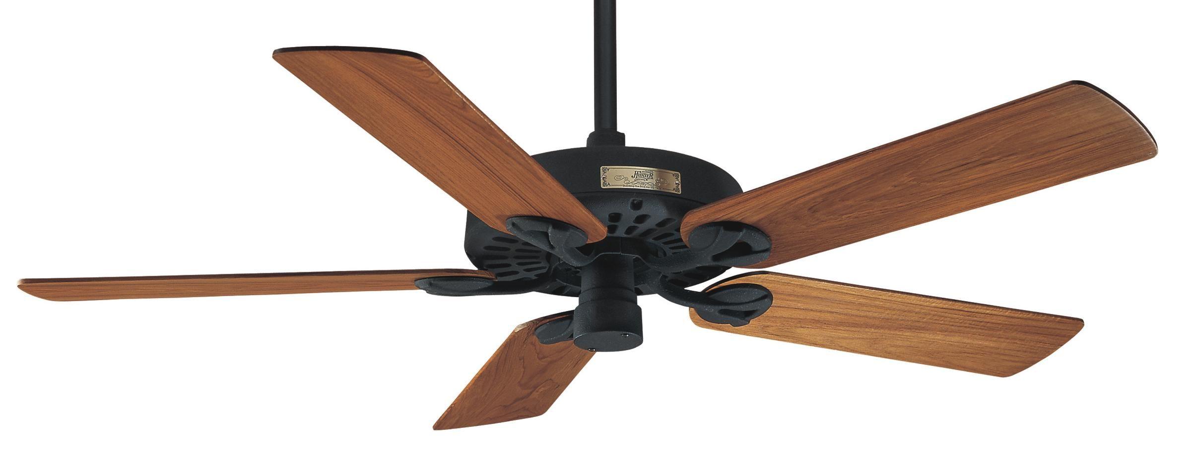 Hunter Outdoor Original Individual Elements 25601 Airflow Rating 7501 Cfm Cubic Feet Per Minute Black Ceiling Fan Ceiling Fan Outdoor Ceiling Fans