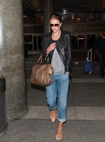 Leather jacket, boyfriend jeans and flats...