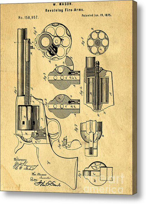 Limited time promotion colt peacemaker patent art blueprint drawing limited time promotion colt peacemaker patent art blueprint drawing stretched canvas print malvernweather Gallery
