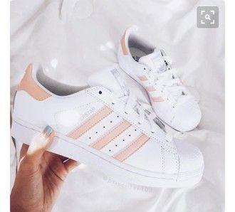 adidas superstar peach stripes
