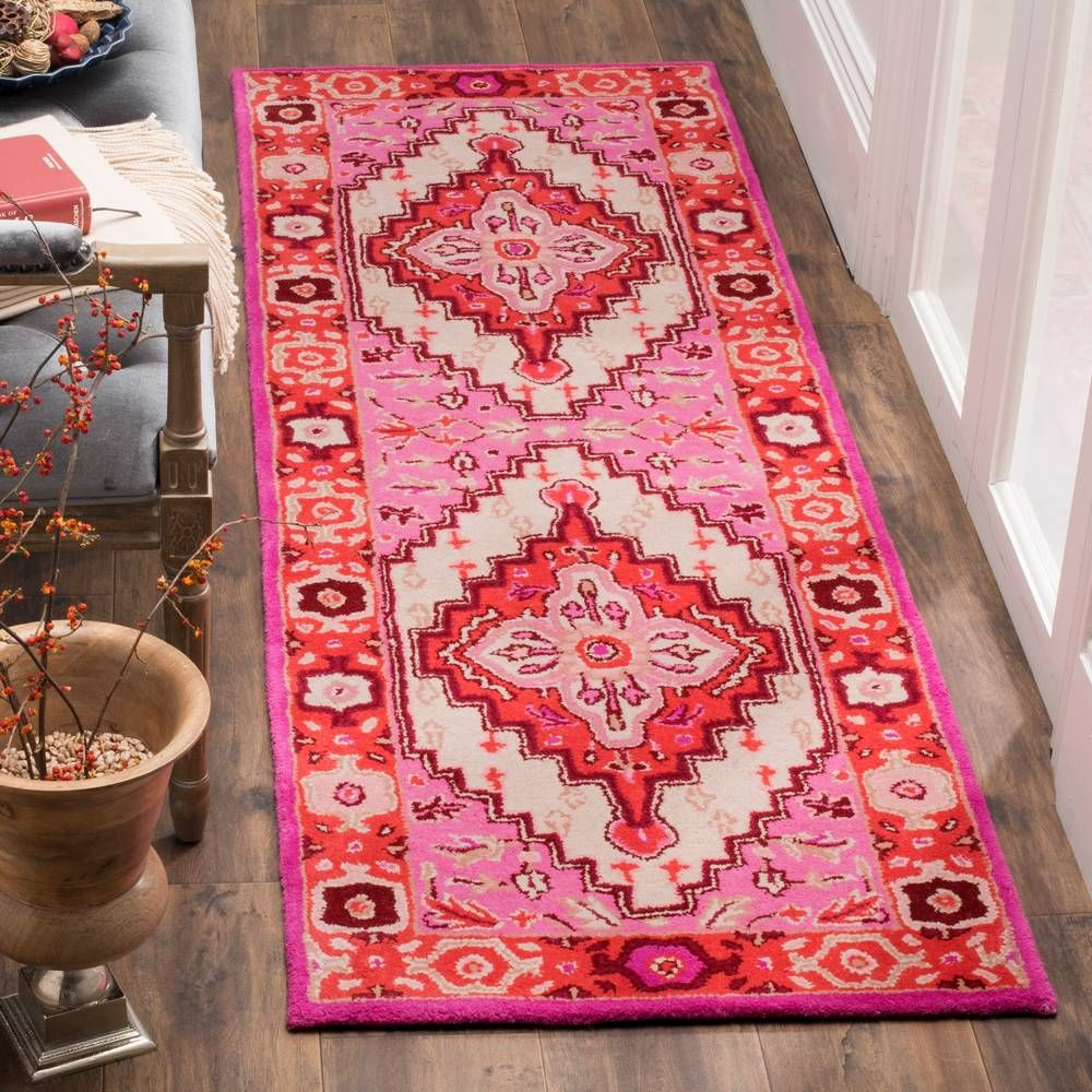Safavieh Red Pink Ivory Kendra Area Rug Oriental Wool Rugs Contemporary Area Rugs Area Rug Design