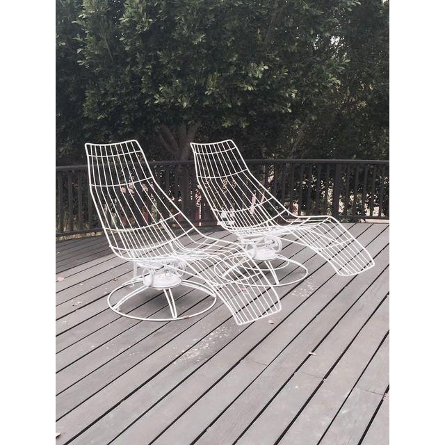 Image Of Homecrest Mid Century Chaise Lounge Chairs   Pair