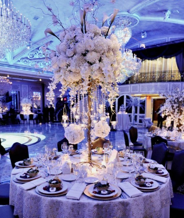 To see more gorgeous wedding decor ideas for your ceremony & reception: http://www.modwedding.com/2014/11/07/37-gorgeous-flower-filled-wedding-ideas-diana-gould-ltd/ #wedding #weddings #wedding_centerpiece Event Design: Diana Gould Ltd.
