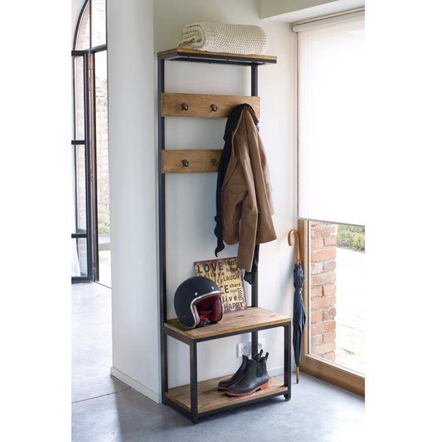 Wooden Coat Rack Stand Vintage