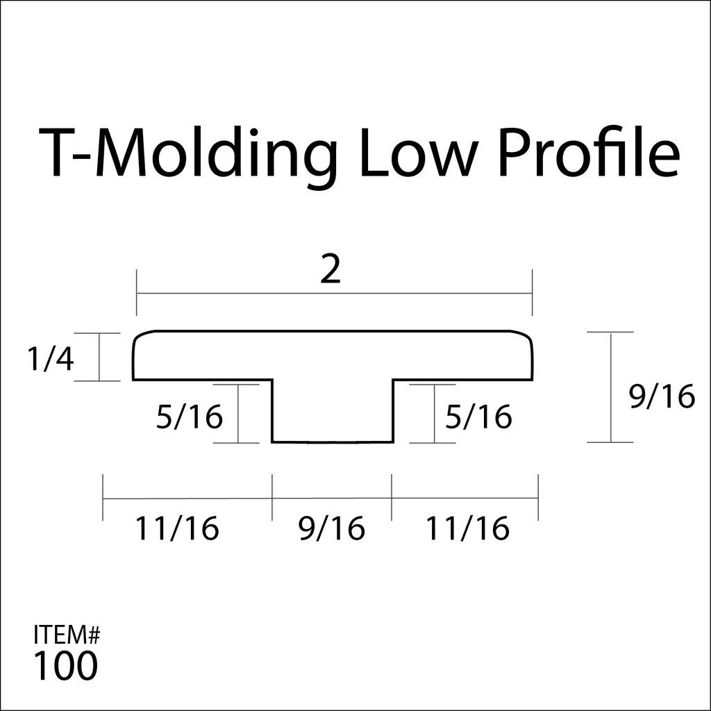 Flexitions Stainable Flexible T Molding Low Profile 168