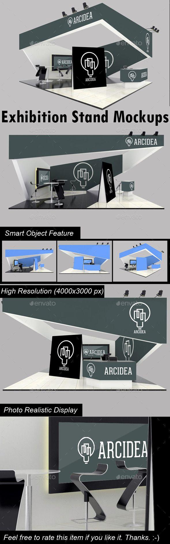 Graphicriver Exhibition Stand Design Mockup : Exhibition stand mockups mockup exhibitions and font logo
