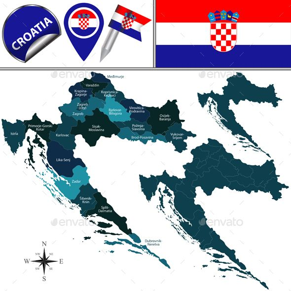 Map of Croatia | Travel Vectors | Pinterest | Map vector, Travel ...