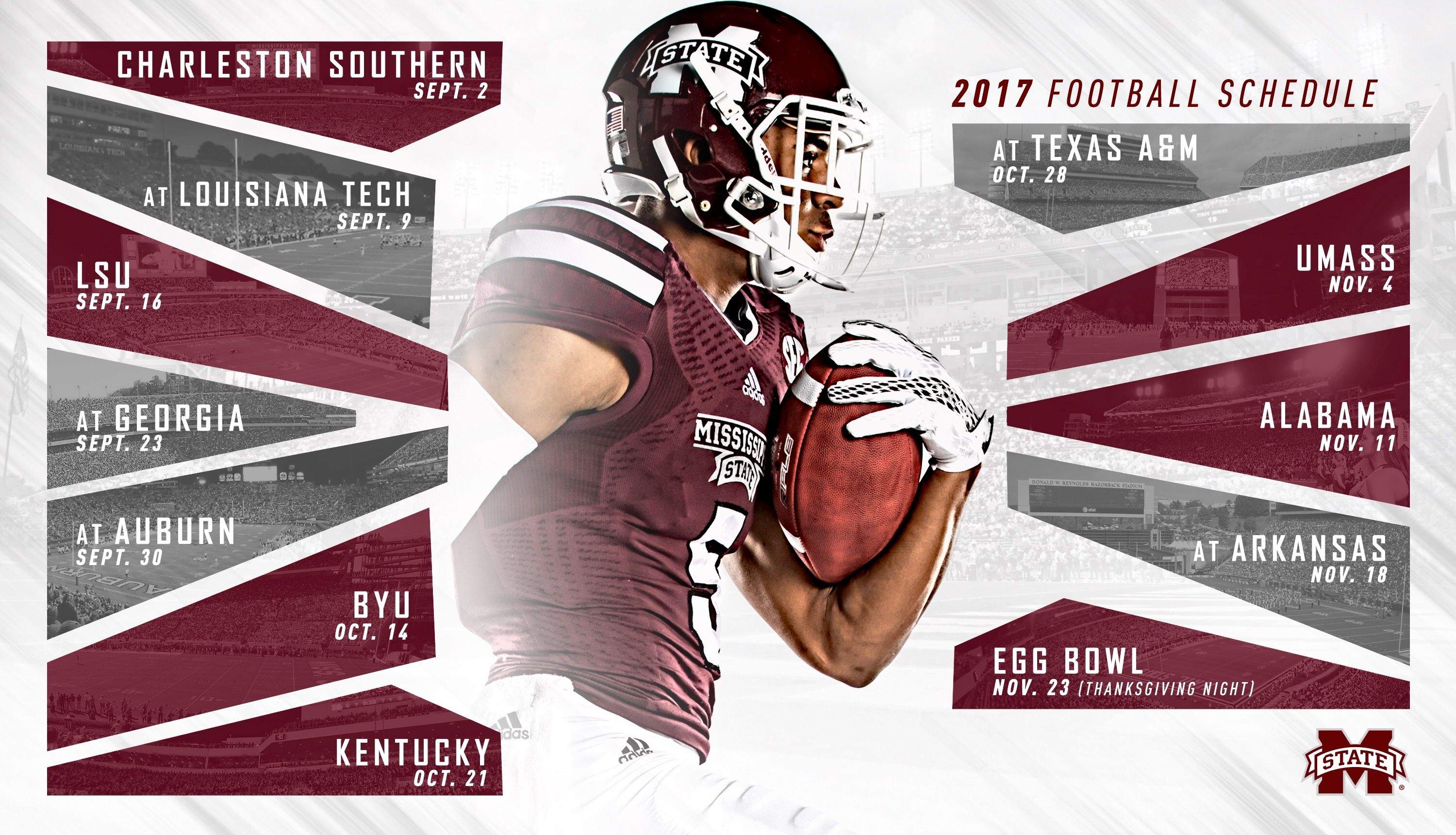 2017 Mississippi State Football Schedule Msu football