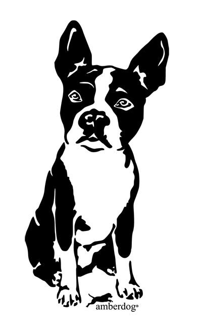 boston terrier stencil - Google Search | Silhouette Graphics ...