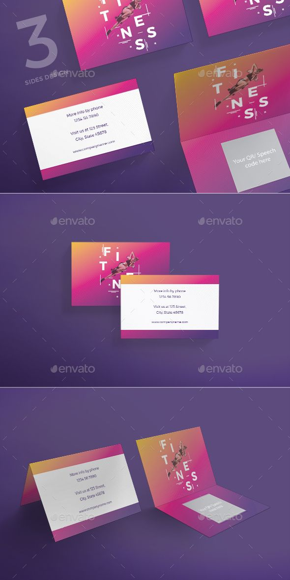 Fitness Training Gym Business Card | Business cards, Corporate ...