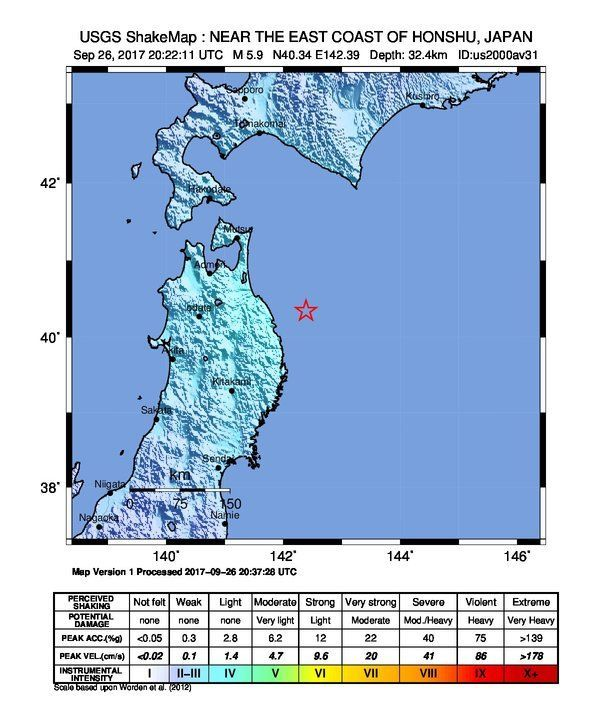 Detailed earthquake information - overview map, magnitude ... on