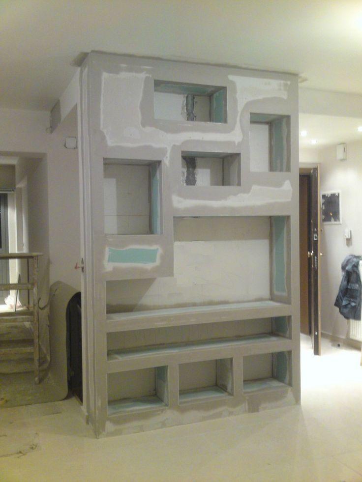 Plasterboard libraryplasterboard shelvesp ls my - Iluminacion interior armarios ...