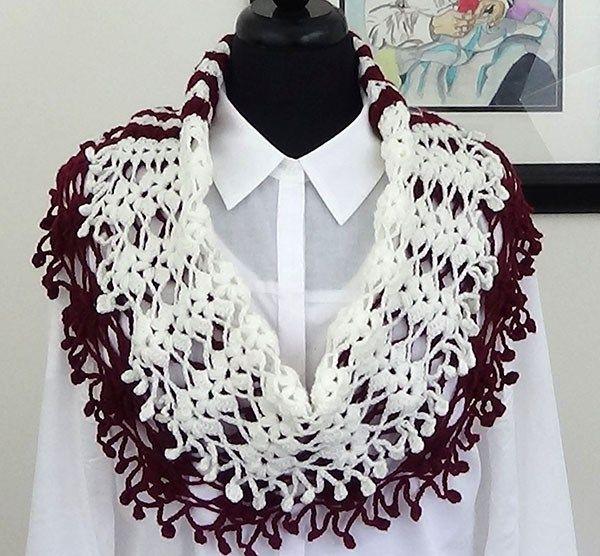 Crochet Bufanda en Dos Colores - Tejiendo de Corazon | tejido ...