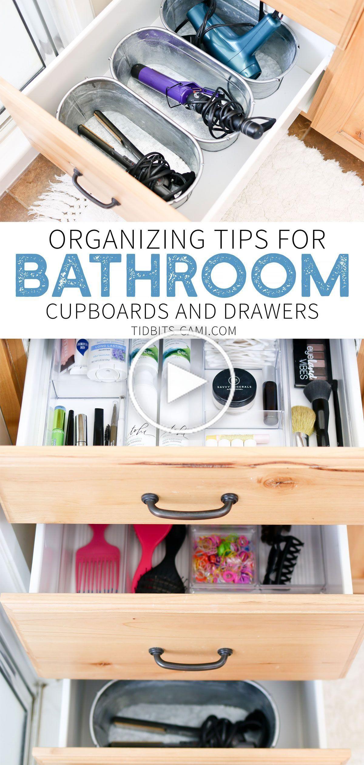 Organisieren Badezimmer Schubladen Und Schranke In 2020 Bathroom Drawer Organization Bathroom Drawers Bathroom Organization Diy